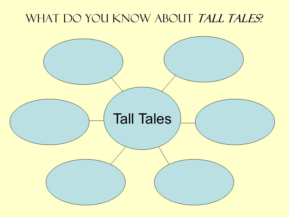 What do you know about tall tales? Tall Tales