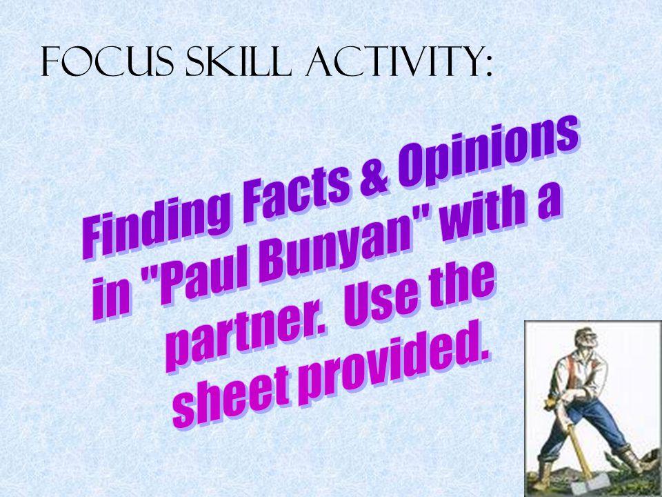 Focus Skill Activity: