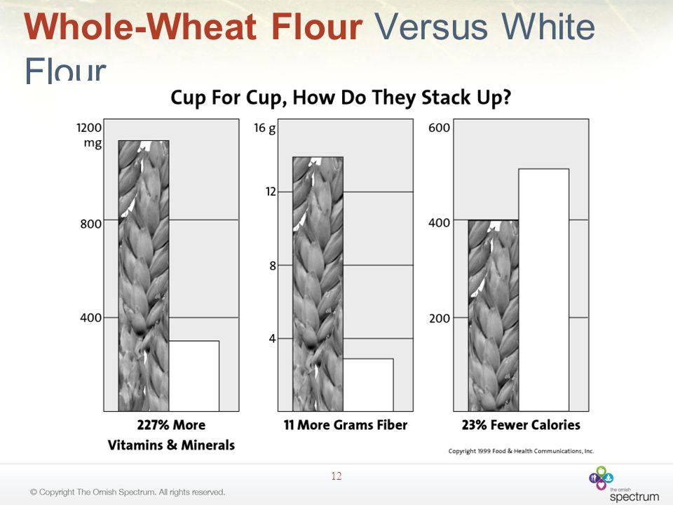 Whole-Wheat Flour Versus White Flour 12