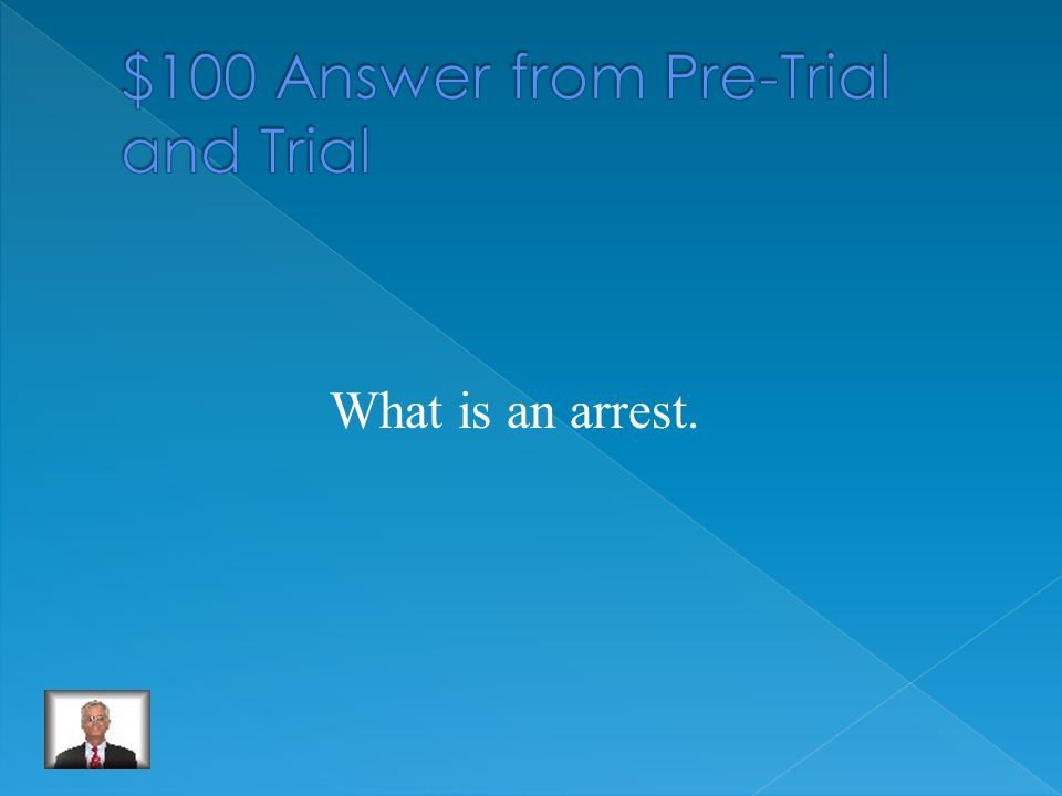 The first step of the pre-trial process.