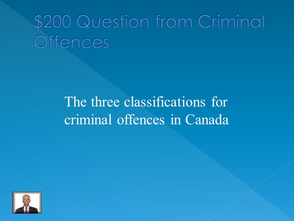 The three classifications for criminal offences in Canada