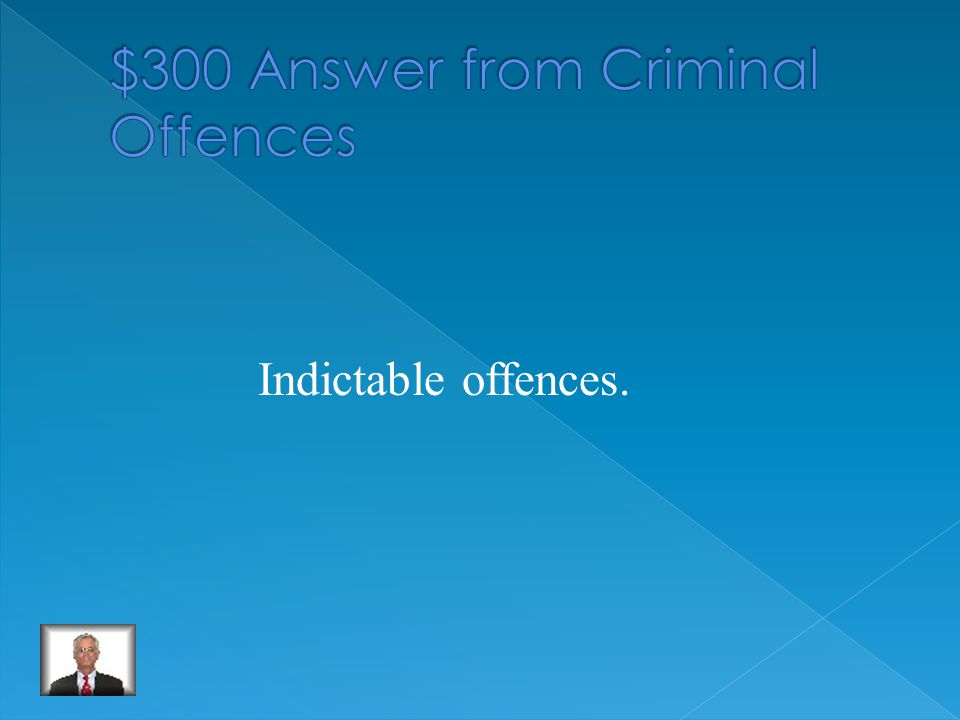 The most serious criminal offences.