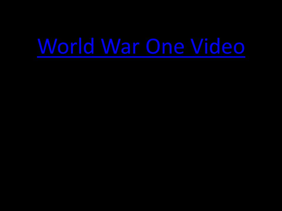 World War One Video