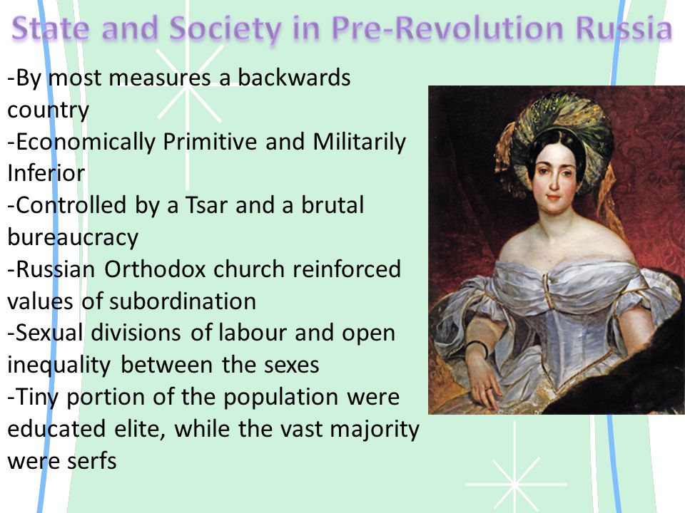 -Like many other social reforms it got its start from the Intelligentsia -On occasion during mass protest against the Lords women would stand in front of the crowds to deter the Lords from using violence -Women used weapons of the weak against persecution -Spousal abuse, murder, accusations of witchcraft or Satanism dotted the records of local courts