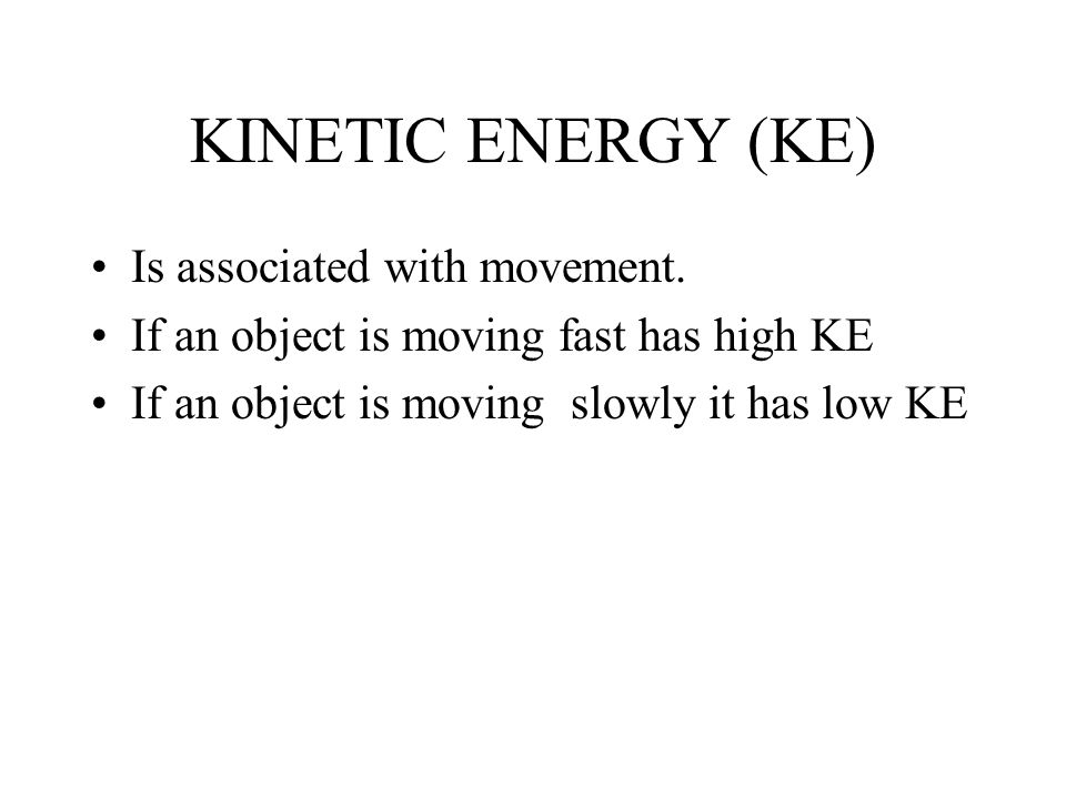 TEMPERATURE Is associated with heat but it is NOT HEAT. IT IS NOT A FORM OF ENERGY!!!! ( Heat is) Review: What is KINETIC ENERGY?