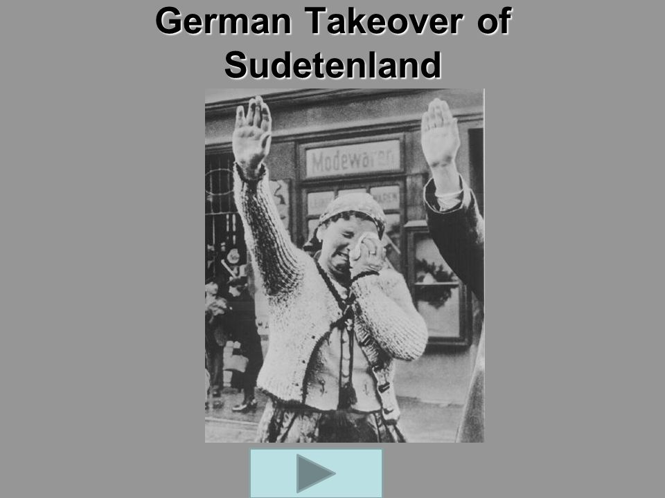 German Takeover of Sudetenland