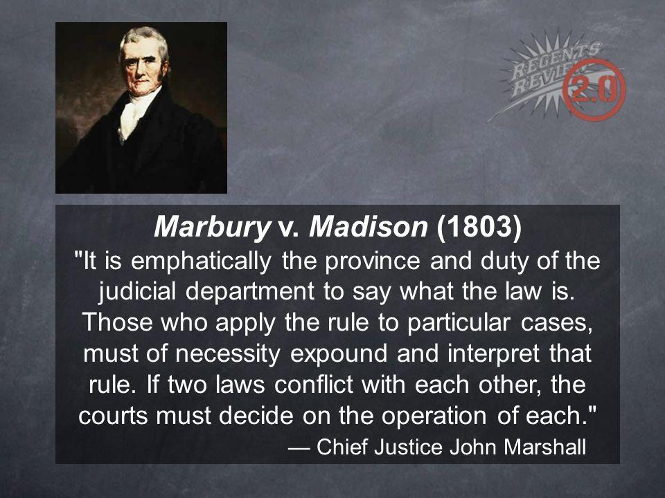 Marbury v. Madison (1803)