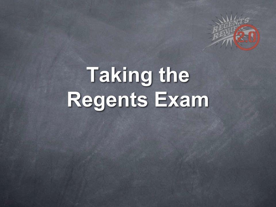 Taking the Regents Exam
