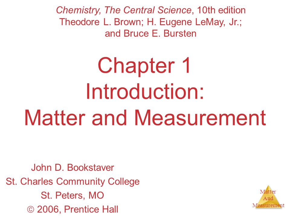 Matter And Measurement Volume The units for volume are given by (units of length) 3.