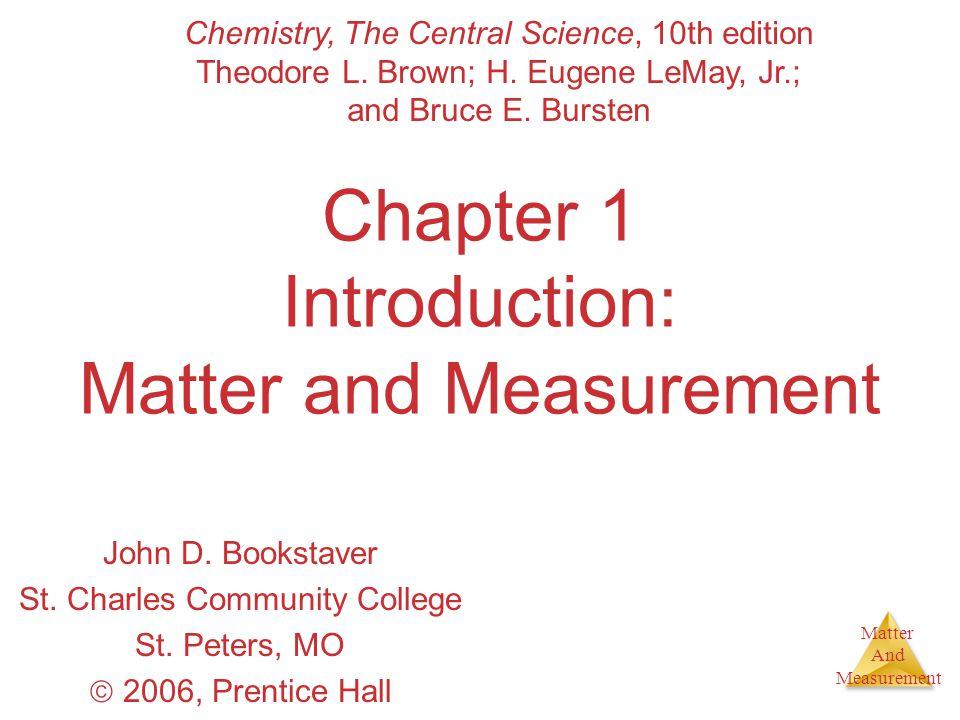 Matter And Measurement Classification of Matter