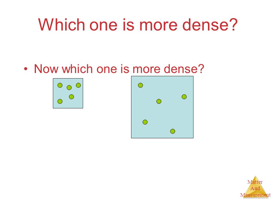 Matter And Measurement Which one is more dense? Now which one is more dense?