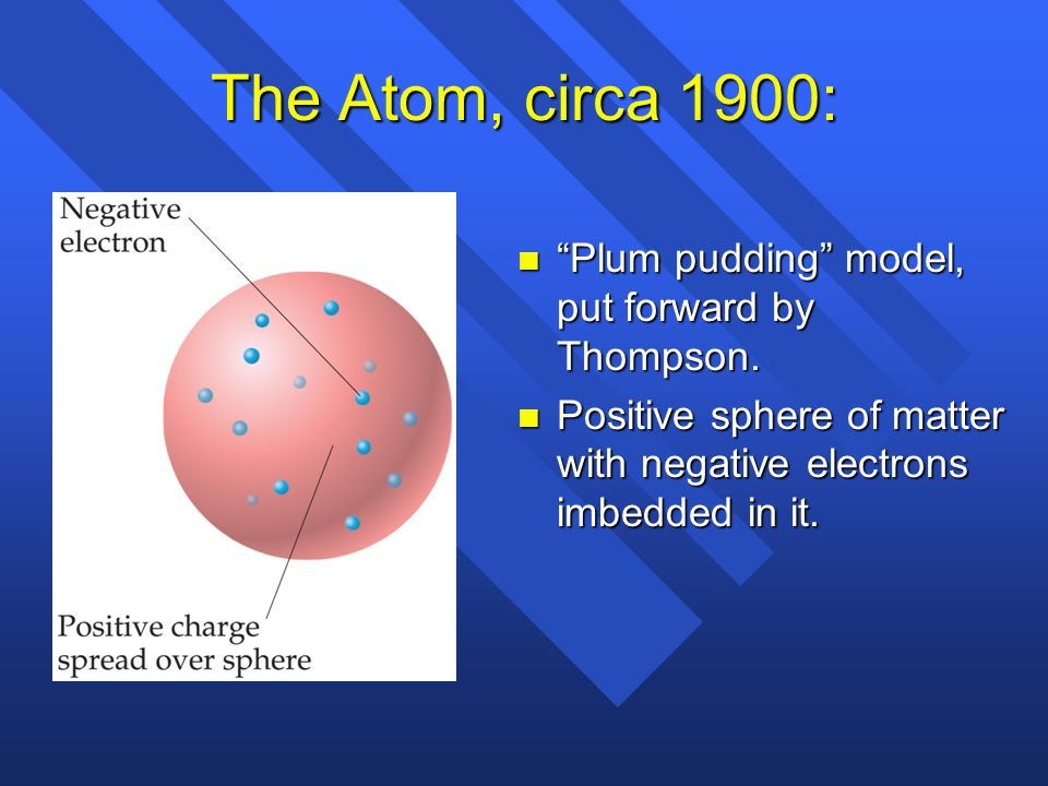 Thomsom's conclusions n Thomson named the cathodic rays electrons and concluded that they must be a part of atoms of all elements.