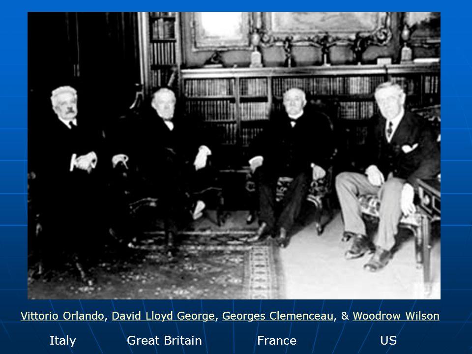 Vittorio OrlandoVittorio Orlando, David Lloyd George, Georges Clemenceau, & Woodrow WilsonDavid Lloyd GeorgeGeorges ClemenceauWoodrow Wilson Italy Gre