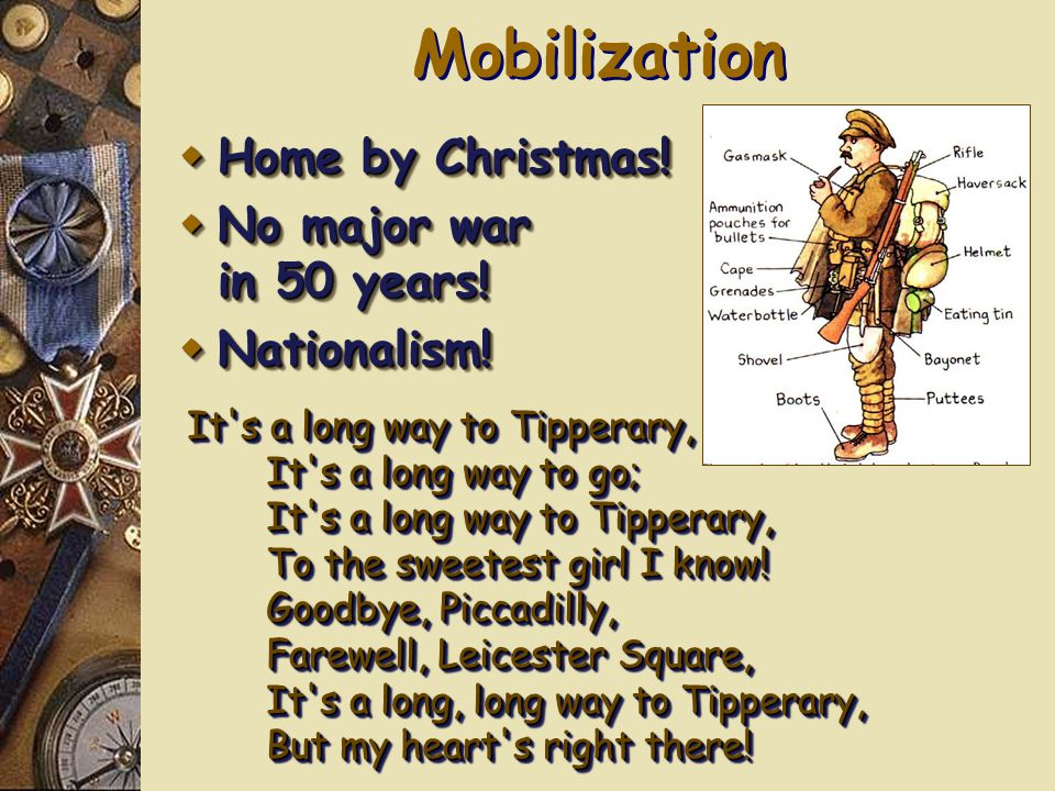 MILITARISM WWI How did technological improvements impact WWI