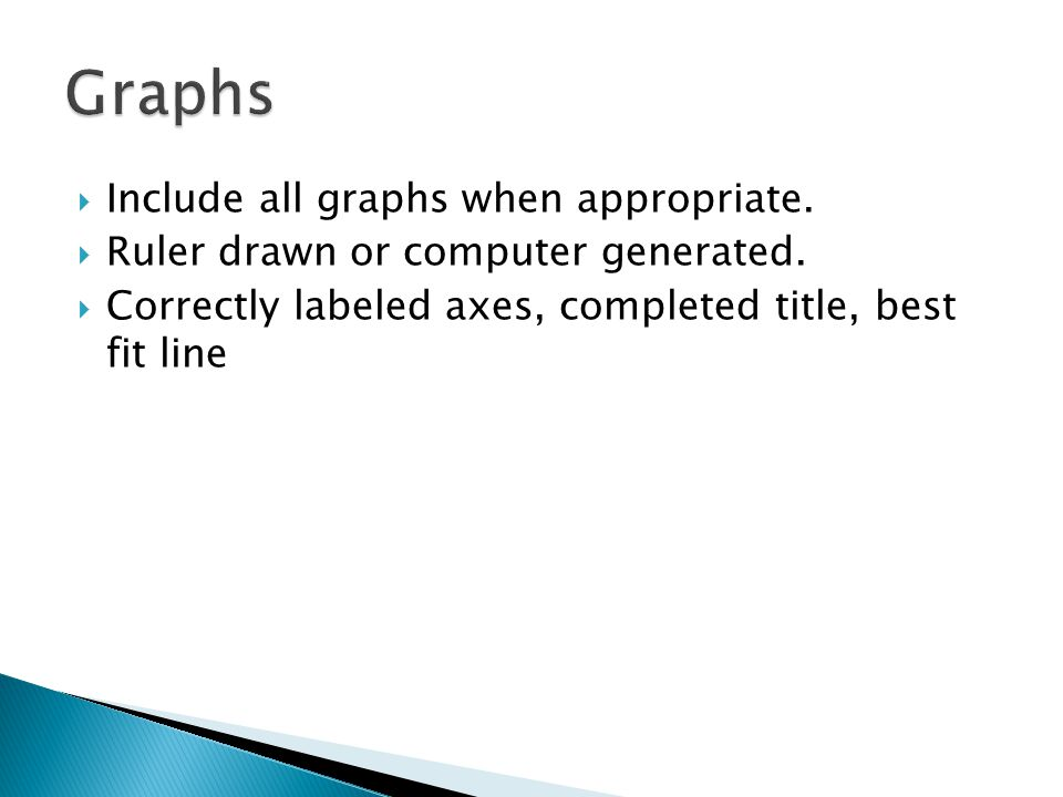  Include all graphs when appropriate.  Ruler drawn or computer generated.