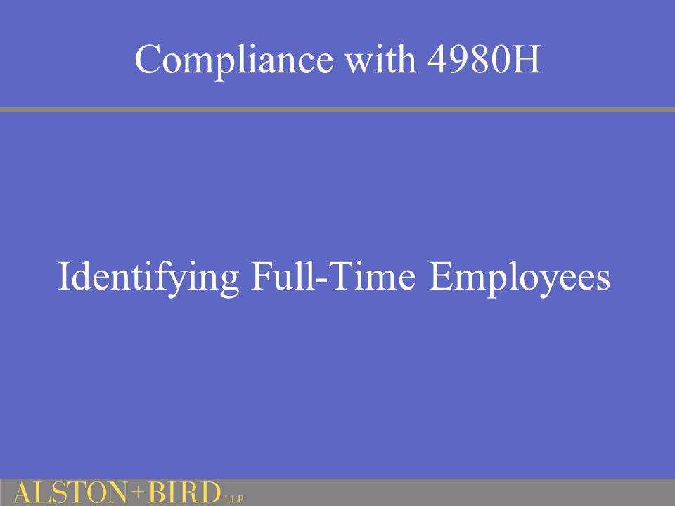 Compliance with 4980H Identifying Full-Time Employees