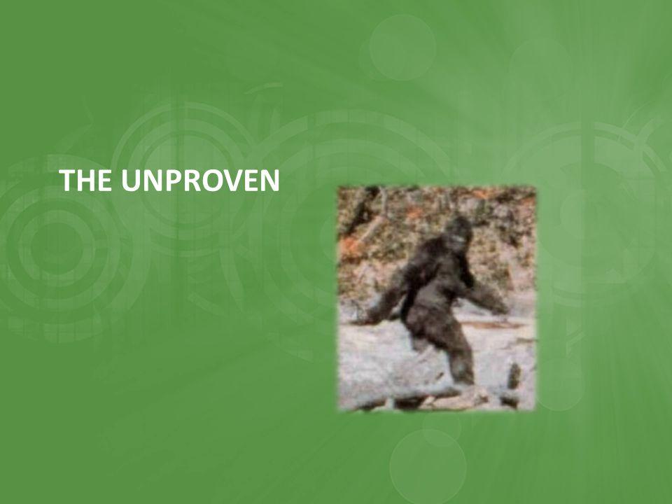 THE UNPROVEN
