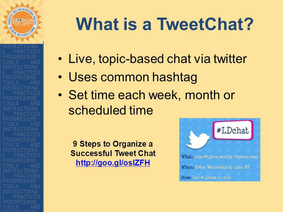 What is a TweetChat.
