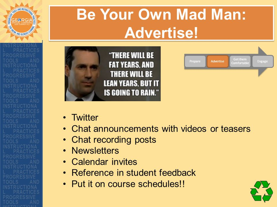 Be Your Own Mad Man: Advertise.