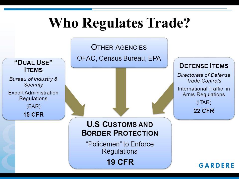 Who Regulates Trade.