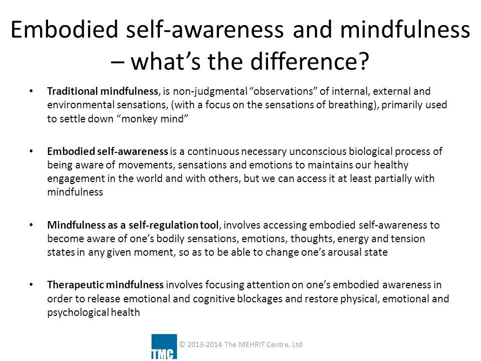 What does mindfulness do in the brain and body.