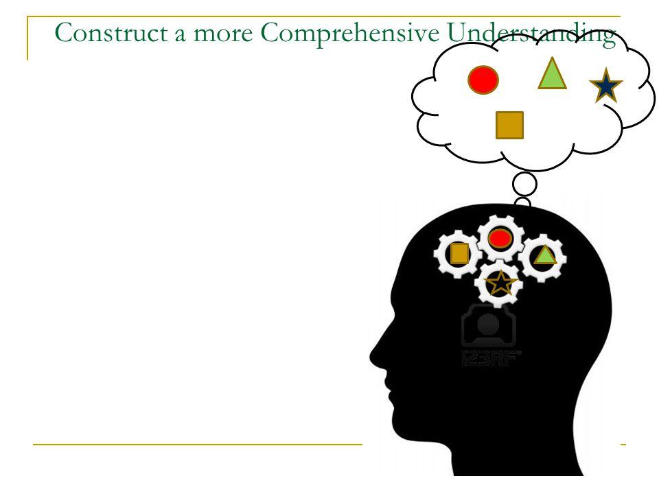 Construct a more Comprehensive Understanding