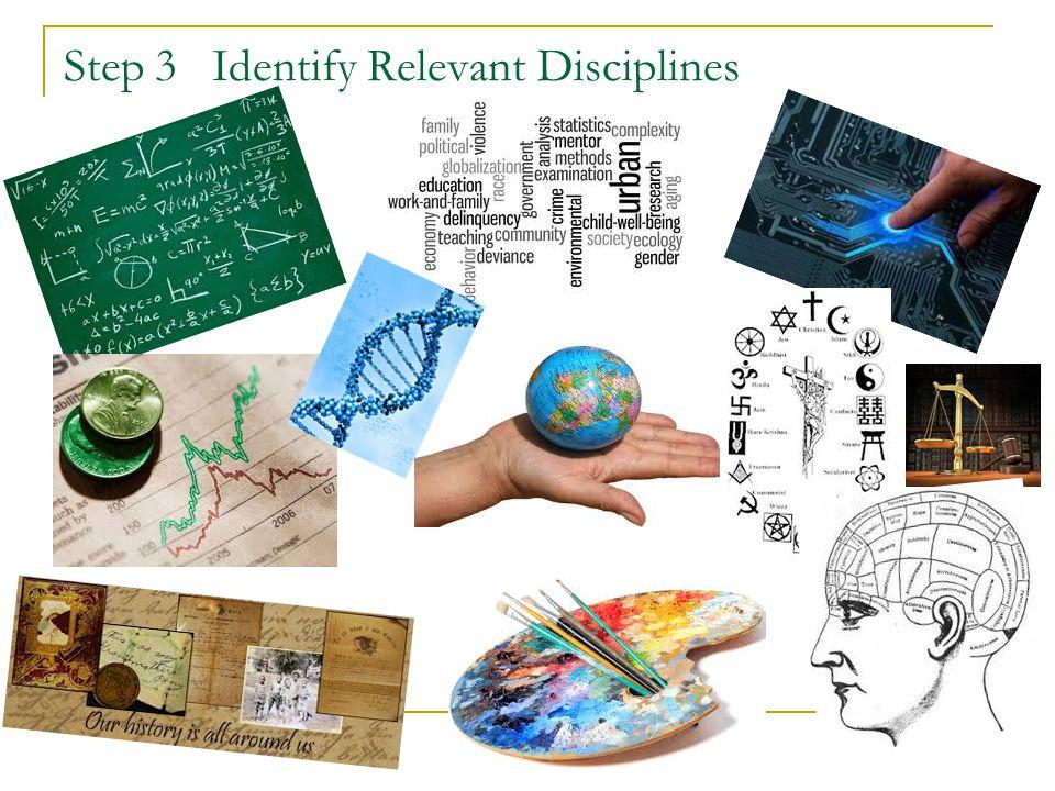 Step 3 Identify Relevant Disciplines