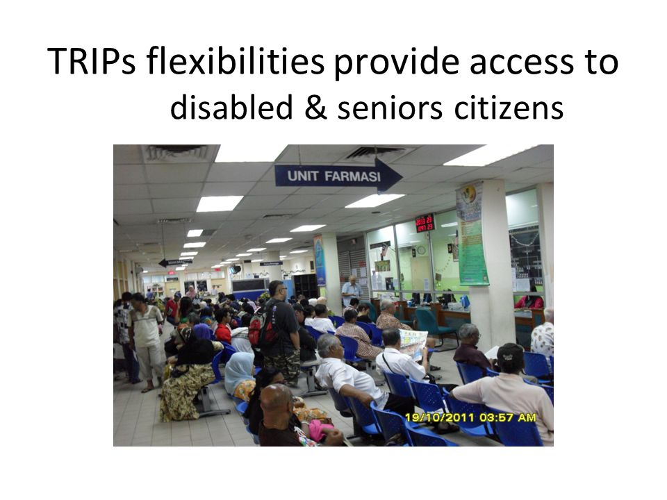 TRIPs flexibilities provide access to disabled & seniors citizens