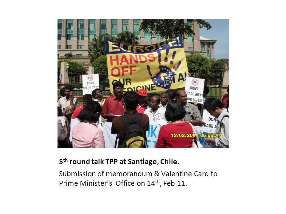 5 th round talk TPP at Santiago, Chile.