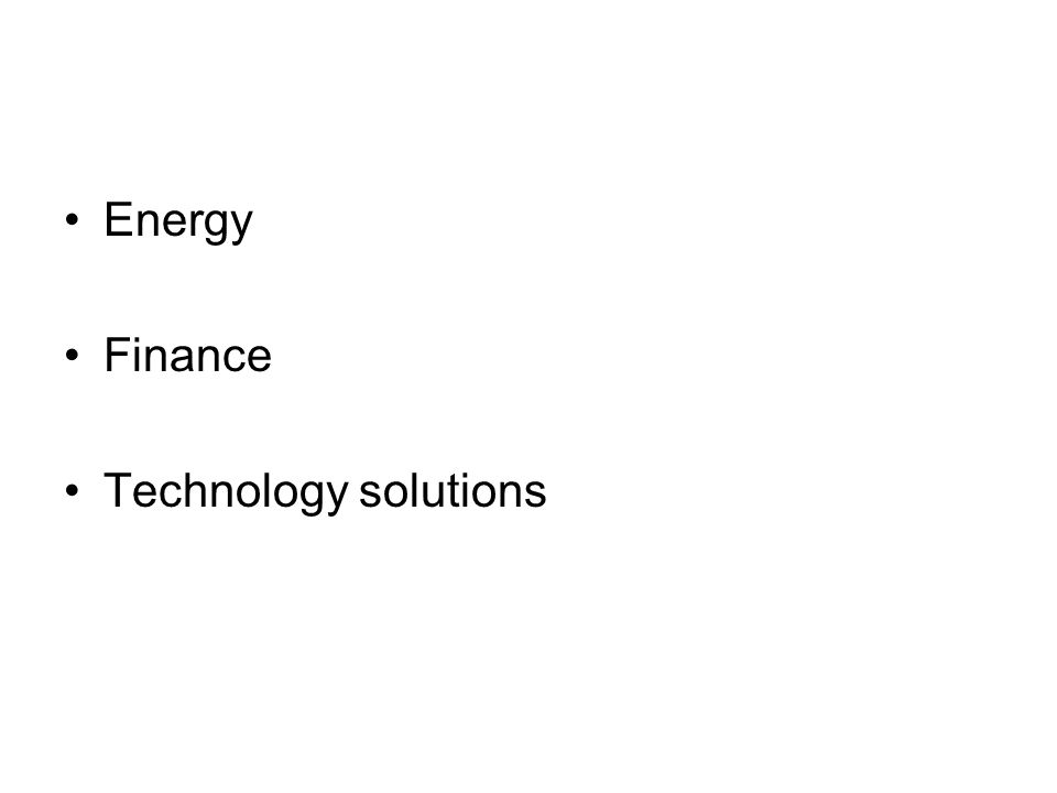 Energy Finance Technology solutions