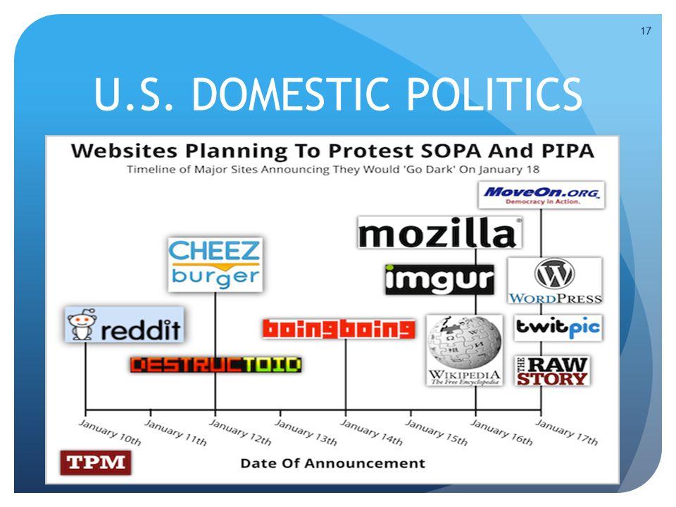 U.S. DOMESTIC POLITICS 17