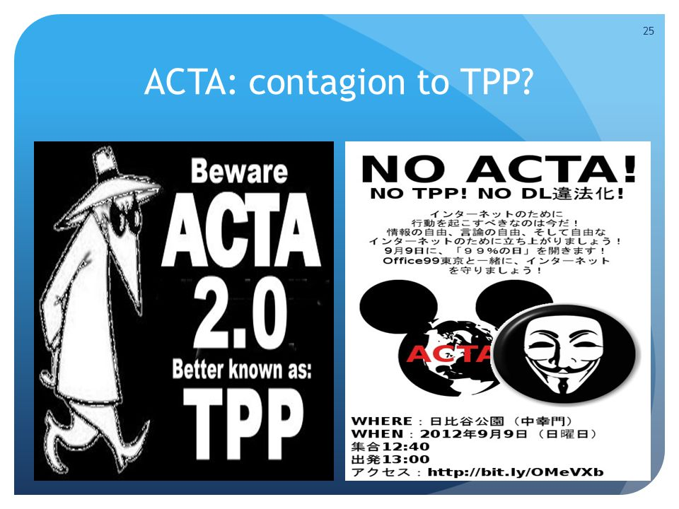 ACTA: contagion to TPP 25