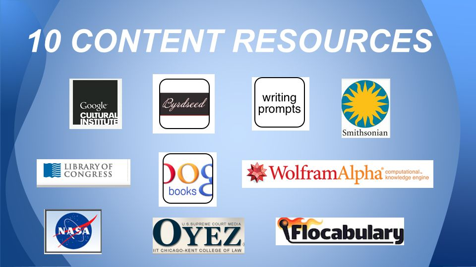 10 CONTENT RESOURCES