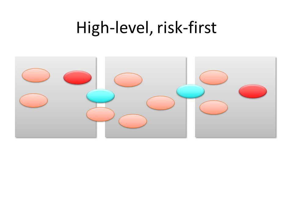 High-level, risk-first