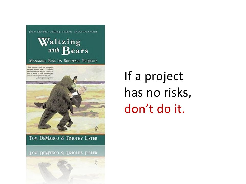 If a project has no risks, don't do it.
