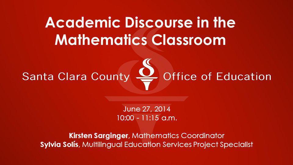 June 27, 2014 10:00 - 11:15 a.m.