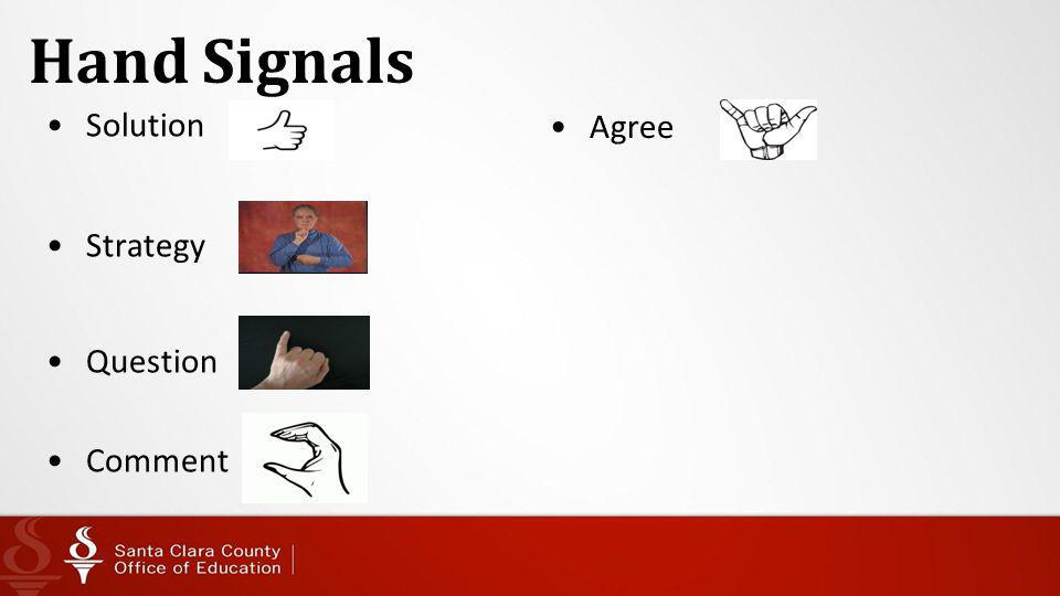 Hand Signals Agree Solution Strategy Question Comment