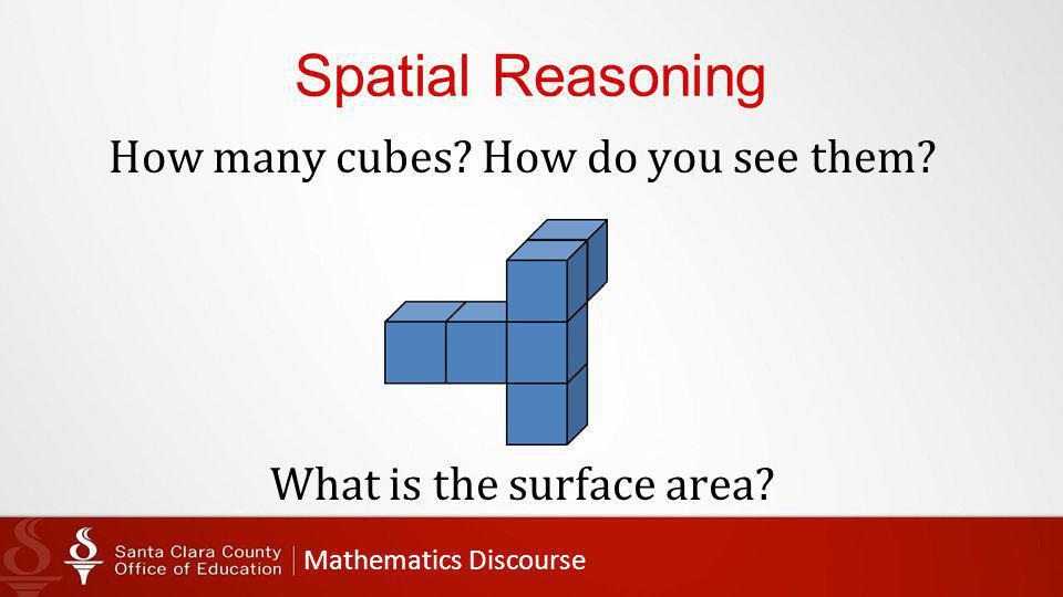 Mathematics Discourse Spatial Reasoning How many cubes.