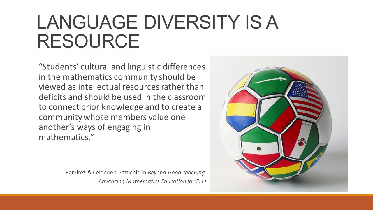 LANGUAGE DIVERSITY IS A RESOURCE