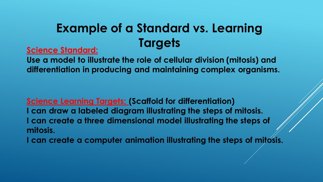 Example of a Standard vs.
