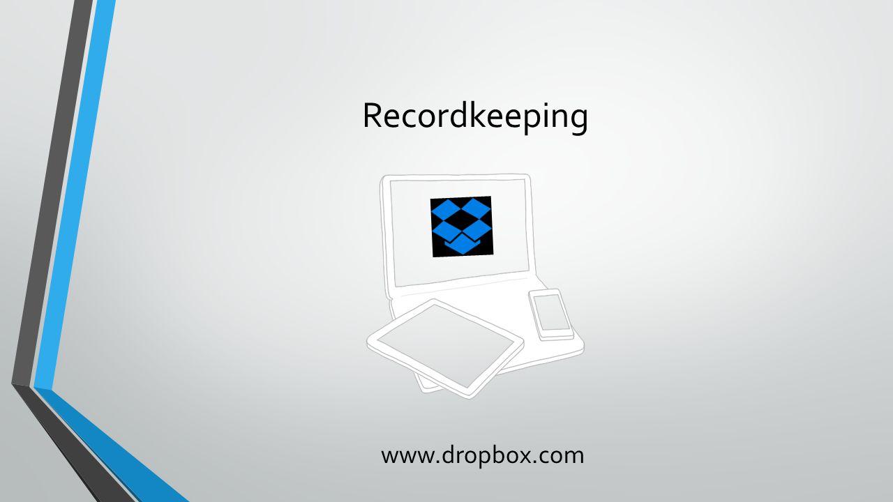 Recordkeeping www.dropbox.com