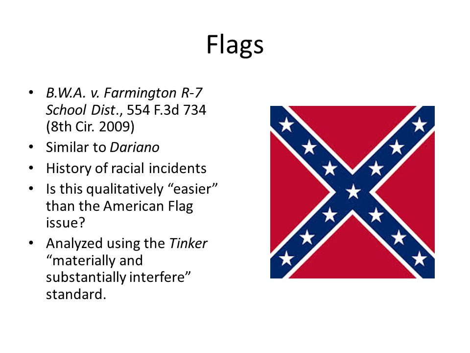 Flags B.W.A. v. Farmington R-7 School Dist., 554 F.3d 734 (8th Cir.