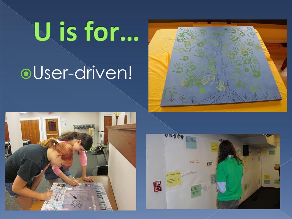  User-driven!