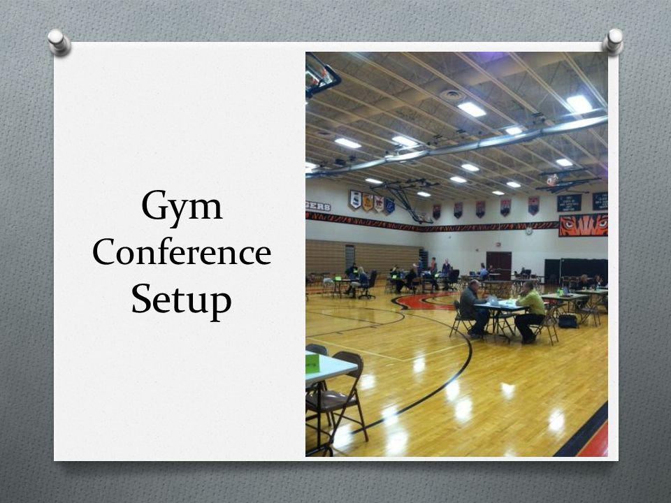 Gym Conference Setup