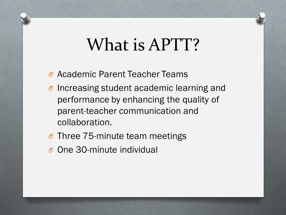 What is APTT.