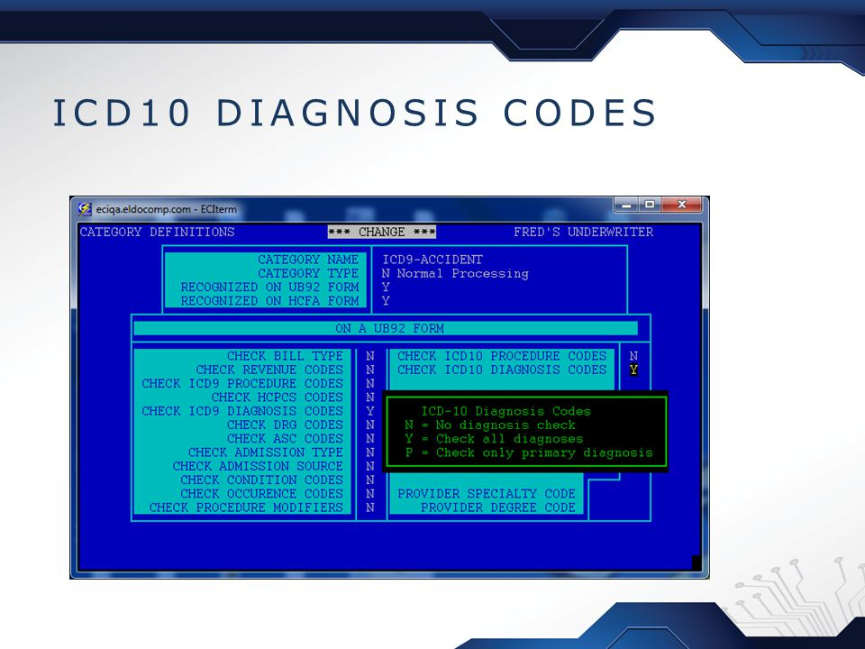 ICD10 DIAGNOSIS CODES