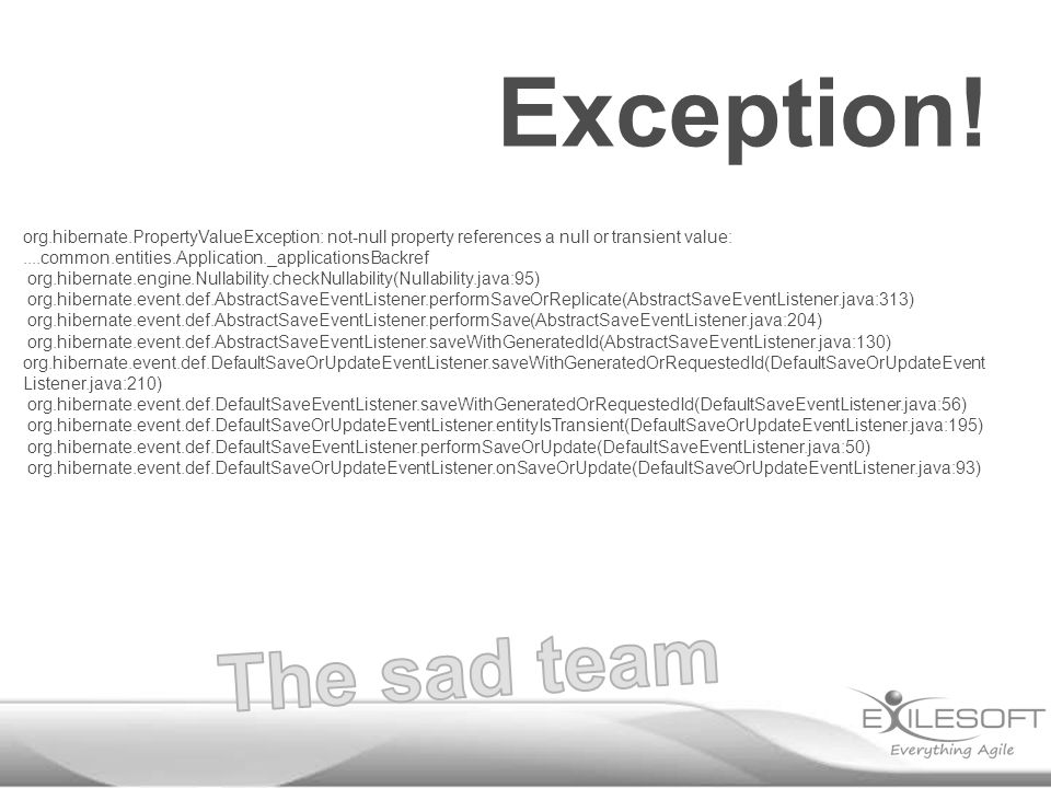 Exception.