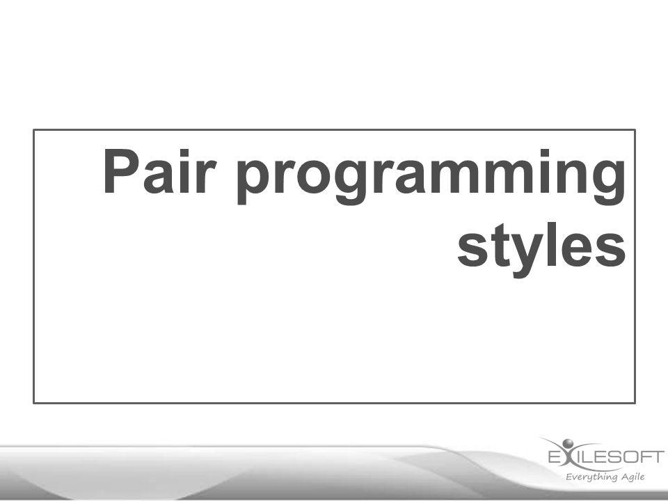 Pair programming styles