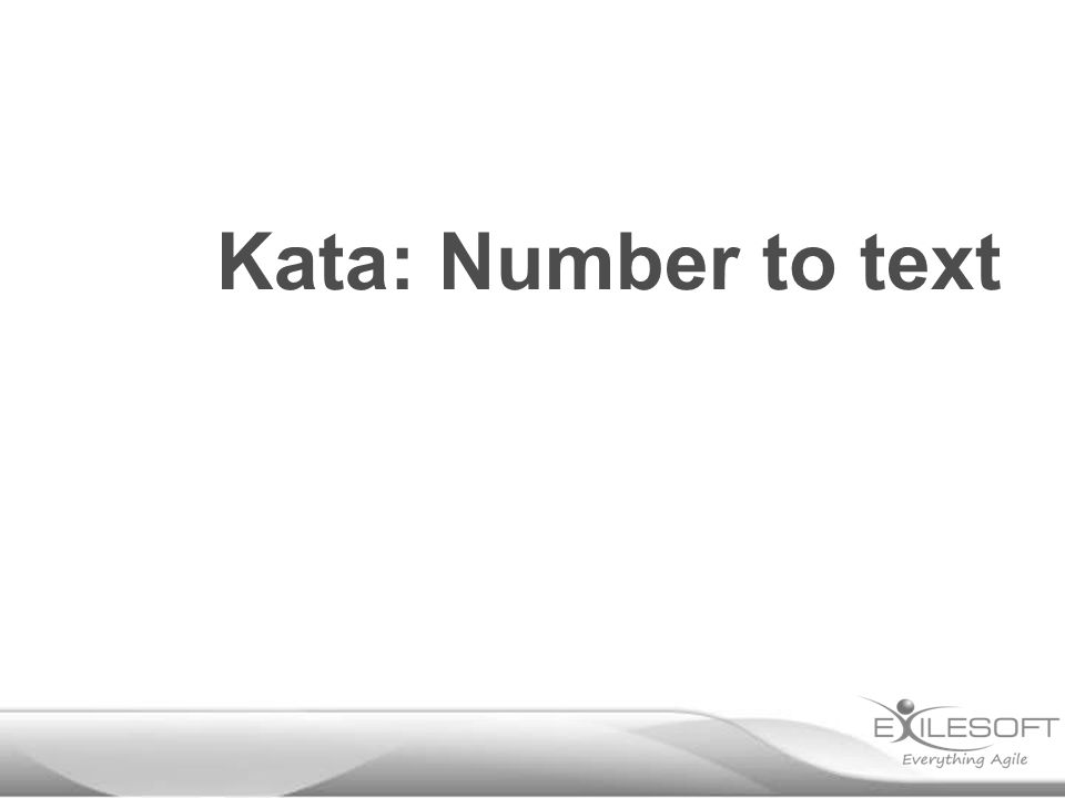 Kata: Number to text