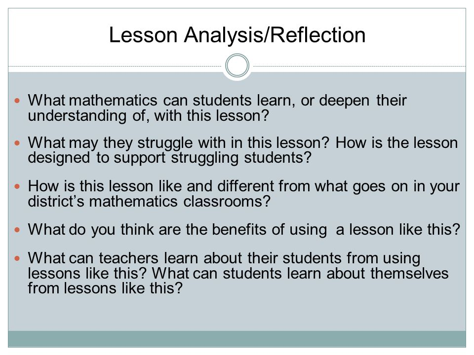 What mathematics can students learn, or deepen their understanding of, with this lesson.